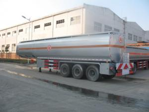 China 25 to 60 CBM Fuel Tank Truck Trailer Aluminum Alloy Stainless Steel Optional supplier