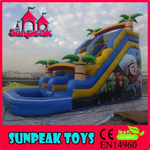 China WL-1818 Popular Commercial Cheap Giant Inflatable Slide on sale