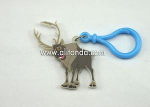 China Animal shape design deer antelope keychains custom acrylic key ring made in China factory on sale