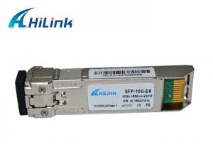 China ROHS BIDI SFP Transceiver / SFP+ Transceiver Module 1550nm 40Km SFP-10G-ER on sale