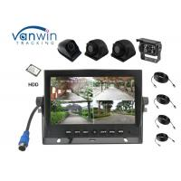 360 degree AHD 720P TFT Car Monitor Quad images monitor DVR , Support HDD storage