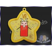 China Star Logo Full Colors Custom Plastic Medals Pvc Medallions For Event on sale