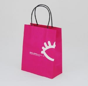 China Exquisite Handle Paper Shopping Bag / Gift Paper Bag With Custom Logo Printed on sale