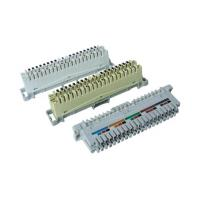 10 Pair ABS or PBT LSA Disconnection Module Category 3 performance with Phosphor Bronze contacts