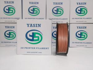 China WOOD Metal Filled 3D Printer Filament PLA Red Copperfill Filament For Toys / Crafts on sale
