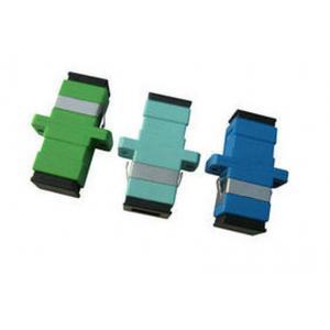 China Pluggable SC Simplex Fiber Optic Adapter , FC / ST Fiber Optic Connector on sale