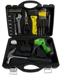 China Portable Cordless 38pcs Rechargeable Electric Screwdriver Drill Set for Home DIY Tools on sale