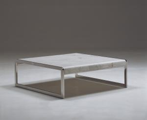 Quality Rectangle Natural Marble Coffee Tables, White Marble Top End Table for sale