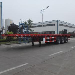 China 3- Axle Flat Bed Semi Trailer Truck 40 Ton Payload Car Carrier Semi Trailer on sale
