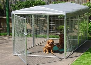 China Large Folding Pet Cage For Dog House / Metal Dog Crate Kennel With Gate on sale