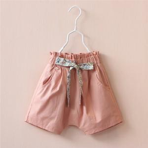 China Floral Elastic high waisted pants Girls Short Pants on sale