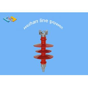 China Red 10kV Polymer Pin Insulator , High Voltage Silicone Rubber Insulator on sale