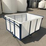 K400 Heavy duty durable Rotationally Moulded 400 Litre Linen Trolley for textile industrial