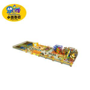 China Colorful Low Ropes Course Equipment , Rainbow Theme Large Indoor Play Structures on sale