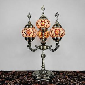 China Mediterranean style Art Deco Turkish Mosaic Table Lamp restaurant table light(WH-VTB-15) wholesale