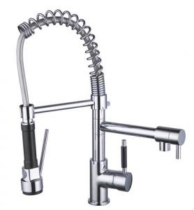 China brass spring kitchen faucet pull down kitchen mixer sink tap - S23s on sale
