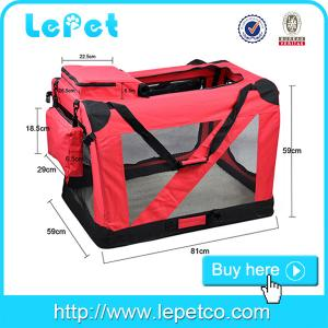 China Extra-large Portable dog carrier bag Soft Pet Crate with Carrier Strap on sale