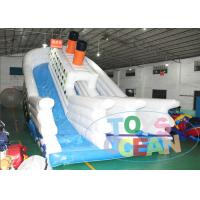 China Huge Inflatable Titanic Slide Game For Kids , Outdoor Party Rental Slides on sale