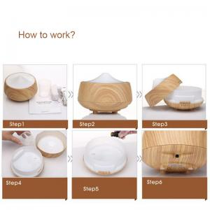 China Ultrasonic air humidifier wood grain aromatherapy essential oil aroma Diffuser on sale