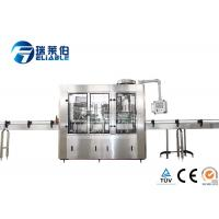 Automatic Carbonated Drink Glass Bottle Filling Machine Plant Stainless Steel 304