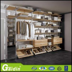 China open style quality assurance made in China bedroom furniture aluminum pole system diy walk in closet on sale