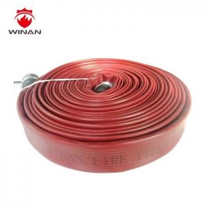 China 3 Inch Lay Flat Irrigation Discharge Hose 1.5 Inch Rubber Hose Reels Firefighting on sale