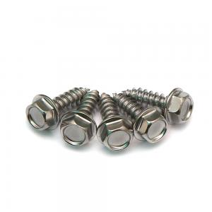 China Hex Washer Head 18-8 SS 304 A2 Stainless Steel Self Tapping Screws DIN6928 Standard on sale