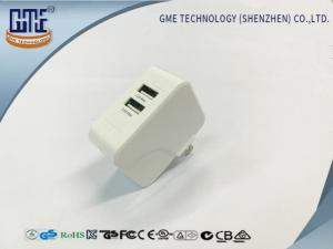 China 5V 1A 5V 2.4A Dual Port Usb Wall Charger Adapter US Plug for Phone Charging on sale