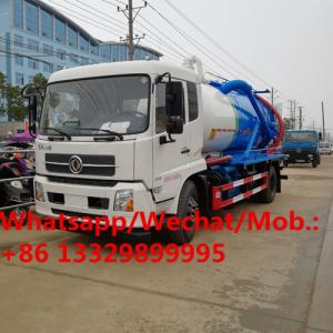 China Dongfeng LHD 6 wheels dongfeng sewage vacuum suction tank truck 12m3 for sale, China made sludge tanker truck for sale on sale