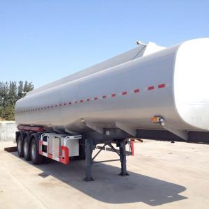 China Tanker semi trailer on stainless steel 35000-80000 liters for palm oil, caustic soda, HC1 etc on sale