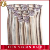 Wholesale Price Virgin Indian Hair Yaki Straight Human Hair Extension Double Drawn Remy Clip In Hair Extension