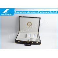 Popular Leather Gift Box Perfume Gift Set Suitcase Box With Handle / Locks