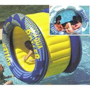 China Outdoor Big Inflatable Water Roller Ball With Slides , EN71 / SGS / CE / UL Certificate on sale