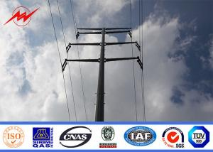 China OEM Power Transmission Poles , Hot Dip Galvanised Steel Pole With AWS D1.1 Standard on sale
