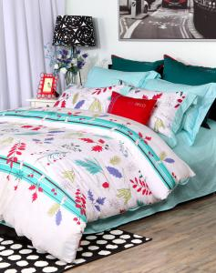 China Fashion ELLE Contemporary Printed Cotton Floral Bedding Sets 4pcs For Kids on sale
