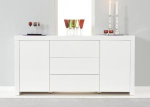 China White High Gloss Painting Modern Sideboard Cabinet / Living Room Buffet on sale