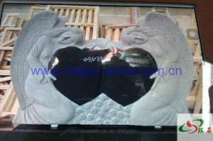China double black Heart with double Angel Monument on sale
