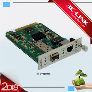 China 10/100/1000Base - TX to 1000Base - FX mutiple services Managed Media Converter Card on sale