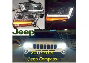 China Jeep Compass headlight LED Xenon Front Head Light Lamp Fit For Jeep Compass 2011-2015  high quality durable waterproof on sale