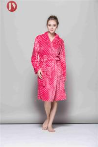 China Luxury Fleece Dressing Gowns  Shawl Collar  Super Soft Winter Sleep Gown Fleece Women Night Gown And Women Robes Long B on sale