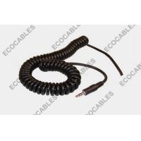 PVC Spiral Power Cable Coiled Cord 26AWG With Audio Connector