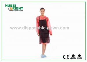 China Black Soft Nonwoven Disposable Plastic Aprons For Adults Bibs on sale