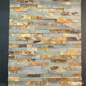 China Decorative Rock Face Slate Culture Stone Wall Cladding Panels No Pollution on sale