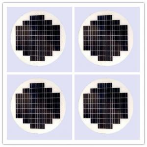 China Round Transparent Solar Panel Glass Photovoltaic High Conversion For Vehiches on sale