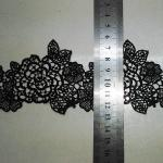 Black  Water Soluble Embroidery Applique   for Wedding Bridal Dress