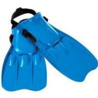 Couleur bleue de plongée de nageoires d