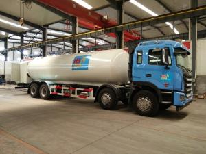 China JAC 8*4 34.5cbm LPG Tank Dispenser Truck 17 Tons 18 Ton With Gas Filling Machine on sale