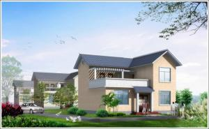 China 2 Story Light Steel Prefabricated Woden house , White Prefab Steel House For Living on sale