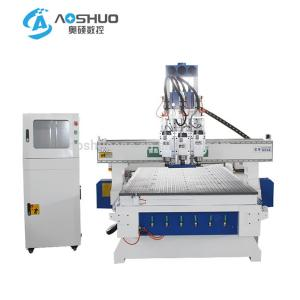 China 3 Heads Automatic Woodworking CNC Machine 1325 C And C Machine For Wood on sale