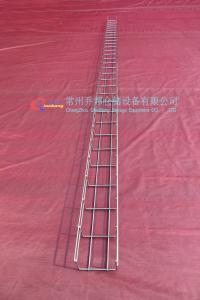 China Customized 3000*100*50 Hot-dip Galvanization Basket Cable Tray With thickness between 60um and 80um on sale